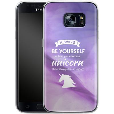 Samsung Galaxy S7 Silikon Handyhuelle - Be A Unicorn von Statements