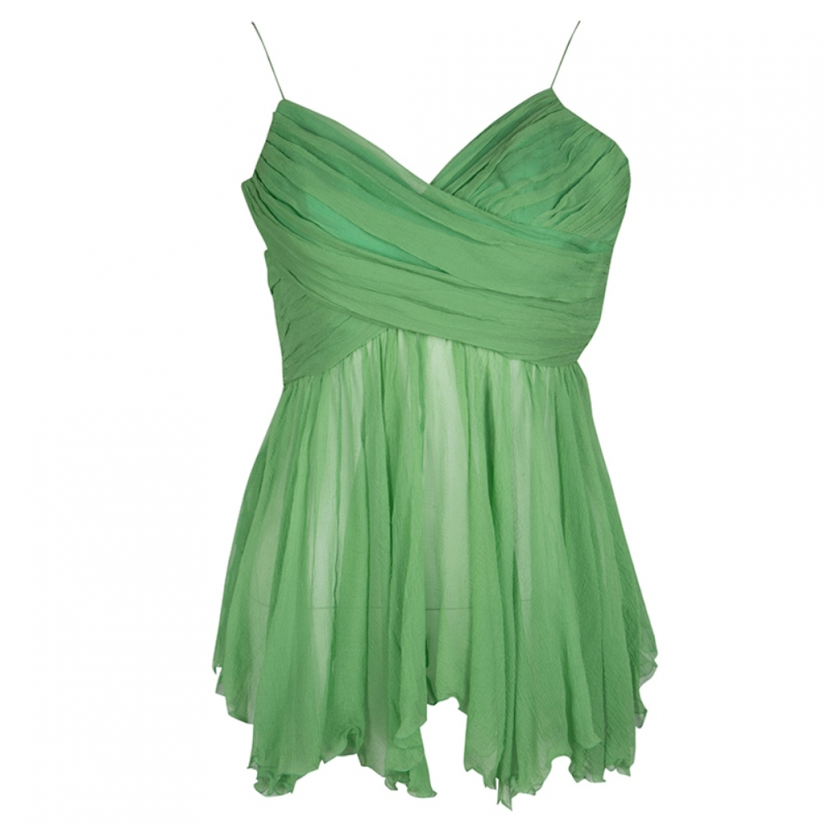Chloé \N Green Silk  top for Women 36 FR
