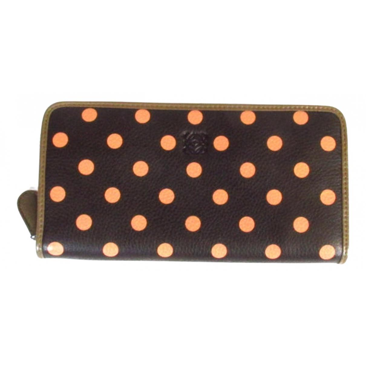 Loewe - Portefeuille   pour femme en cuir - marron