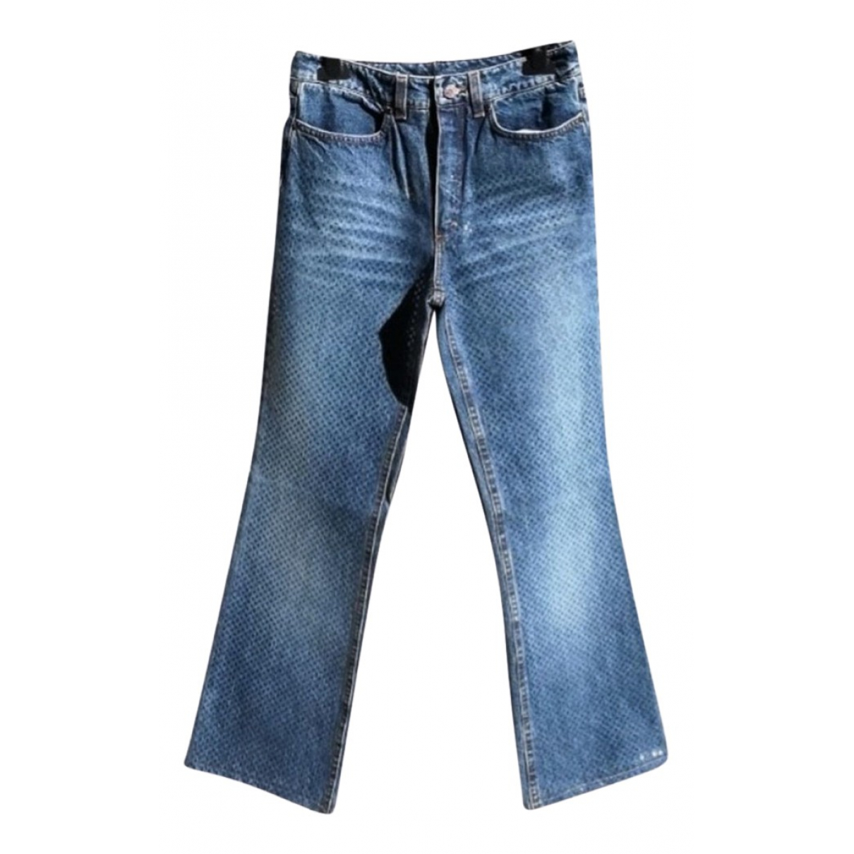 Roberto Cavalli \N Blue Cotton Jeans for Women 36 FR