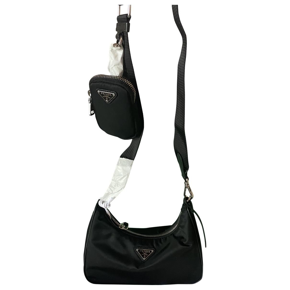 Prada - Sac a main Re-edition pour femme en toile - noir