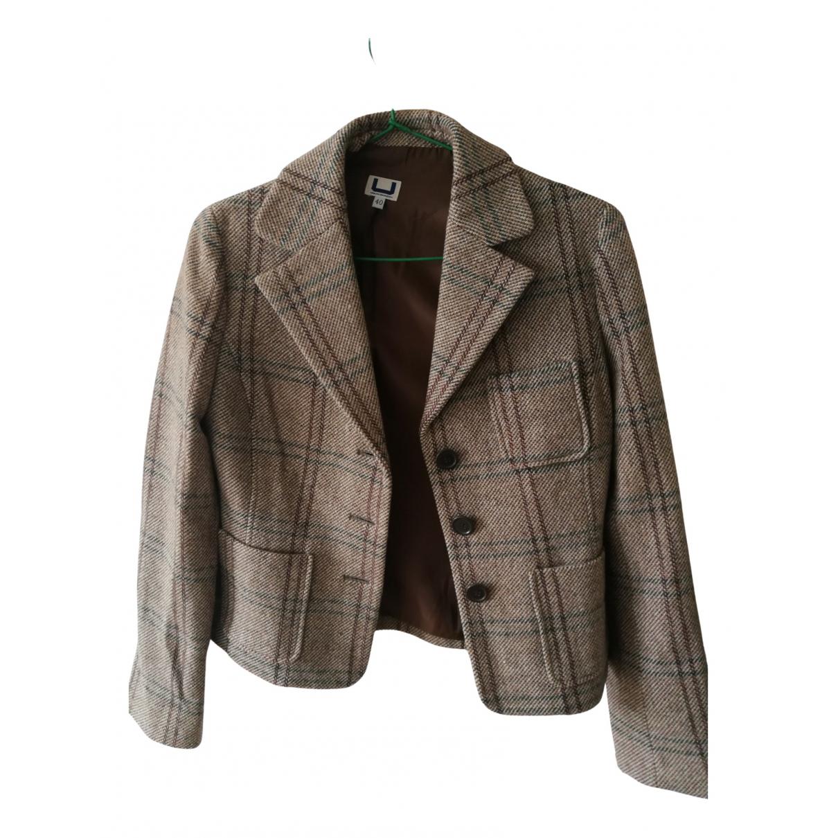 Adolfo Dominguez \N Jacke in  Khaki Wolle