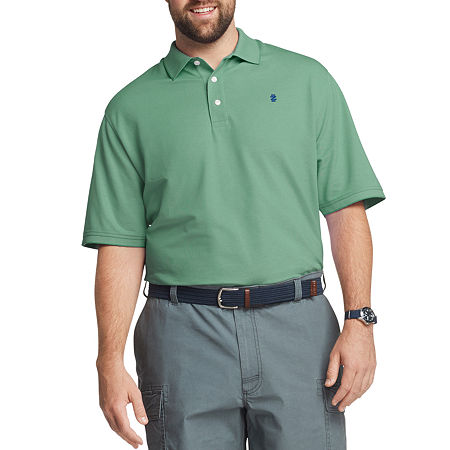 IZOD Mens Cooling Short Sleeve Polo Shirt - Big and Tall, 3x-large Tall , Green