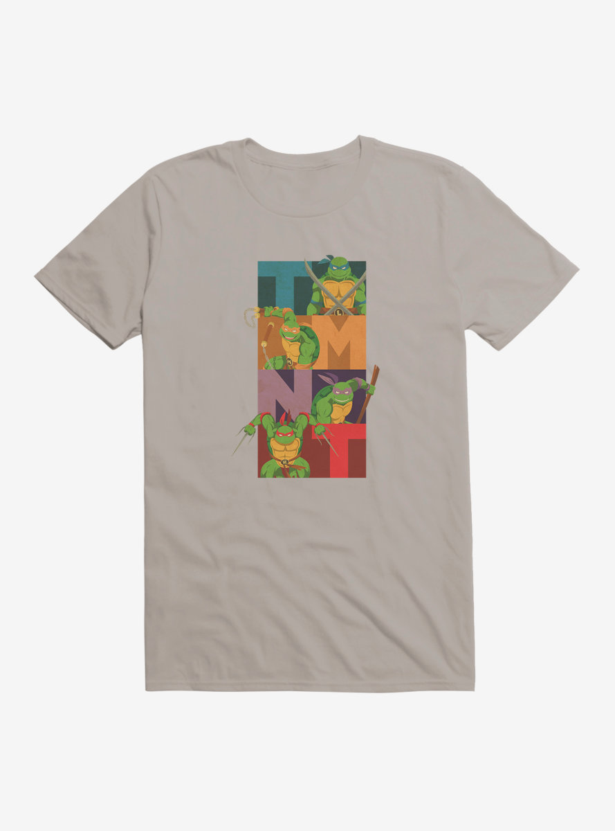 Teenage Mutant Ninja Turtles Group Action Poses T-Shirt