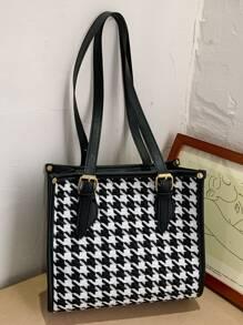 Houndstooth Tote Bag