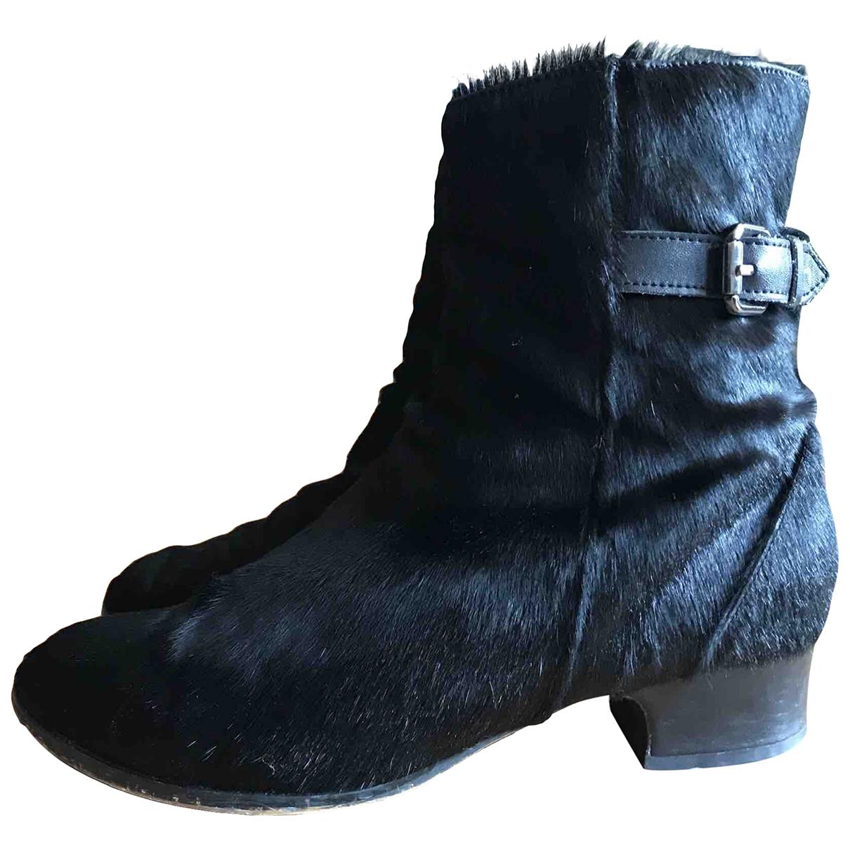 Alexander Wang \N Black Pony-style calfskin Ankle boots for Women 39.5 EU