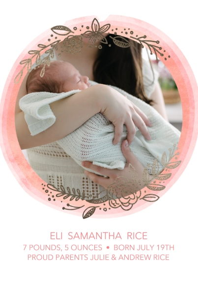 Newborn 5x7 Cards, Premium Cardstock 120lb with Rounded Corners, Card & Stationery -Tiny Trinket Dreams