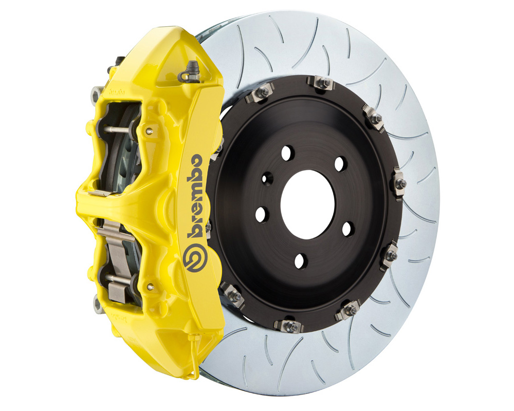 Brembo GT 405x34 2-Piece 6 Piston Yellow Slotted Type-3 Front Big Brake Kit