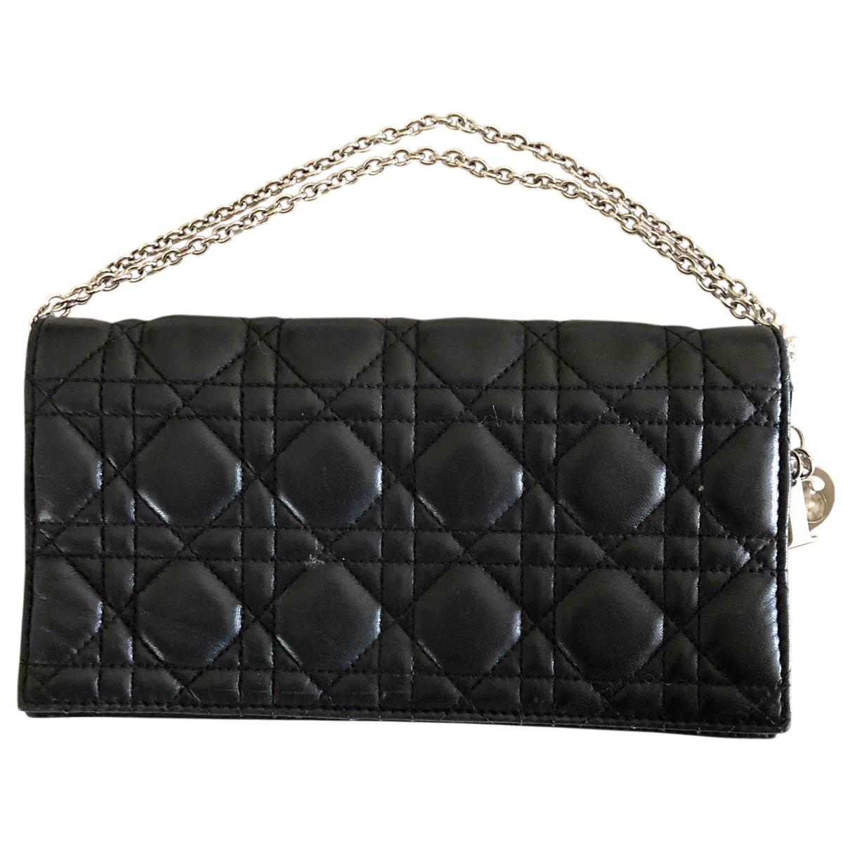 Dior - Pochette   pour femme en cuir - noir