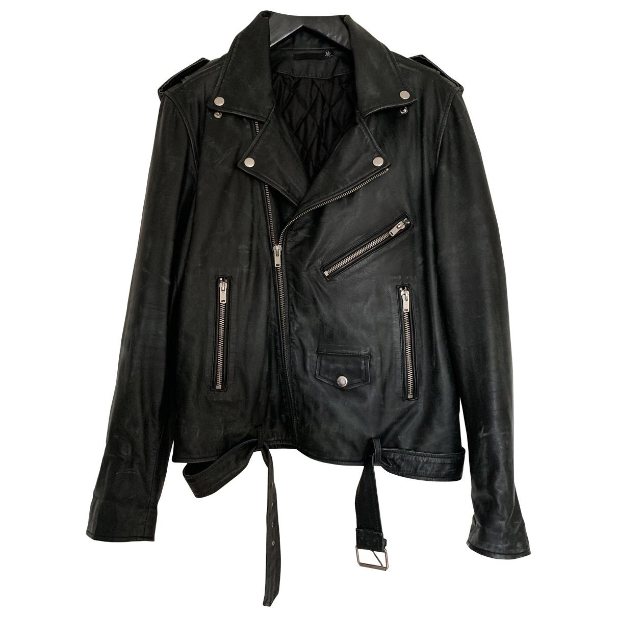 Blk Dnm \N Jacke in  Schwarz Leder