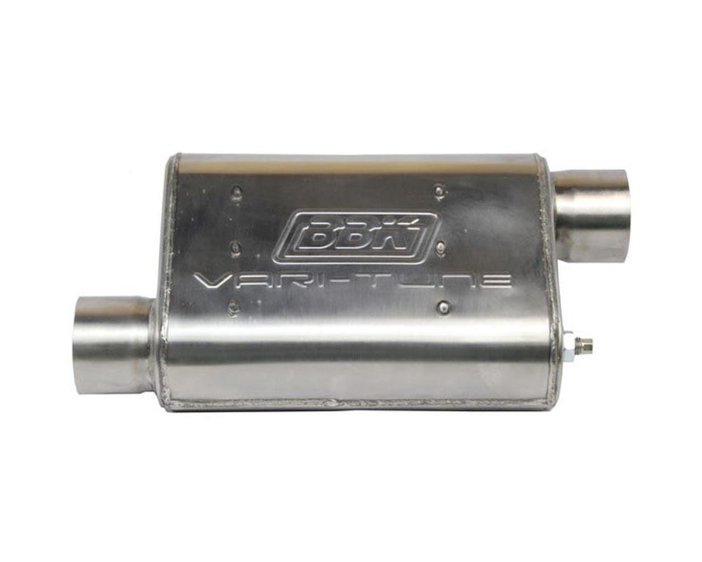 BBK 31025 Performance Parts UNIVERSAL 2-3/4 VARITUNE ADJUSTABLE MUFFLER DOUBLE OFFSET (STAINLESS)