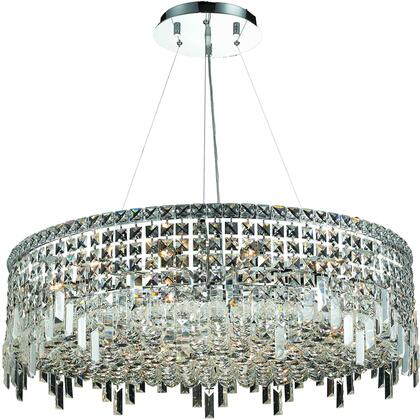 V2031D32C/RC 2031 Maxime Collection Chandelier D:32In H:10.5In Lt:18 Chrome Finish (Royal Cut