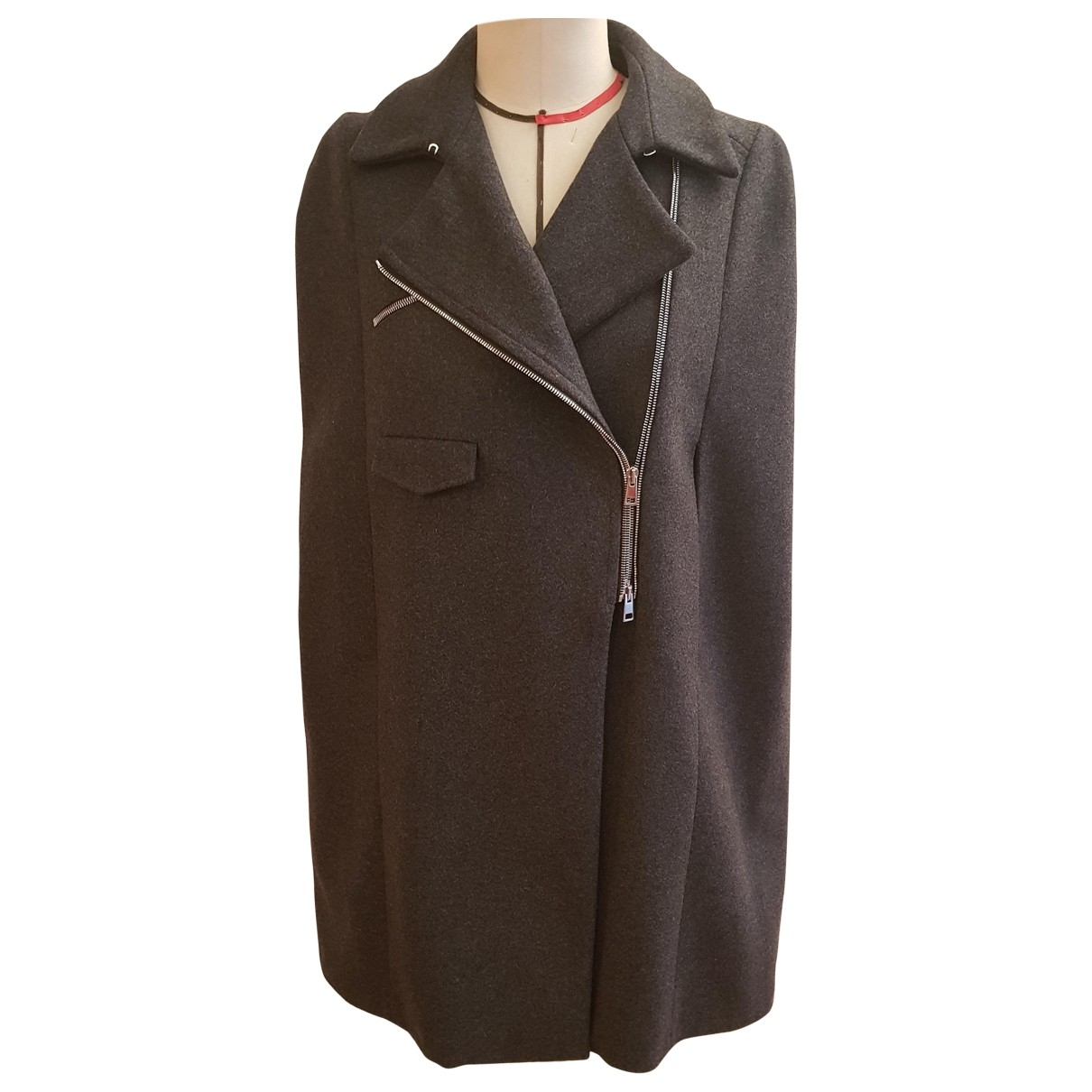 Non Signé / Unsigned \N Anthracite Wool jacket for Women 42 IT
