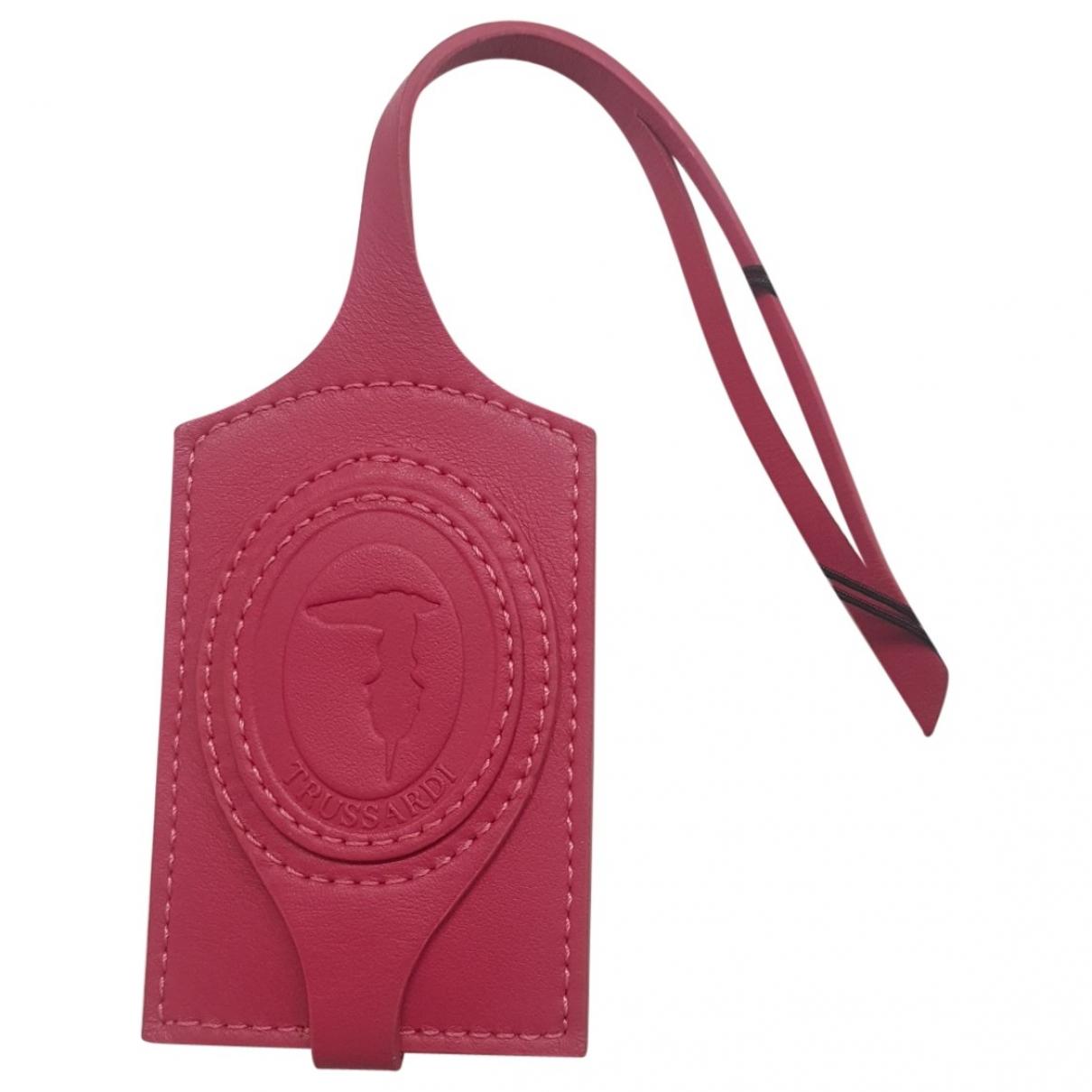 Trussardi - Petite maroquinerie   pour femme en cuir - rose