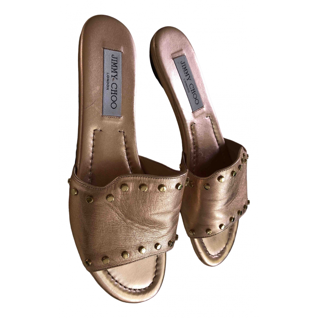 Jimmy Choo \N Metallic Leather Sandals for Women 39 EU