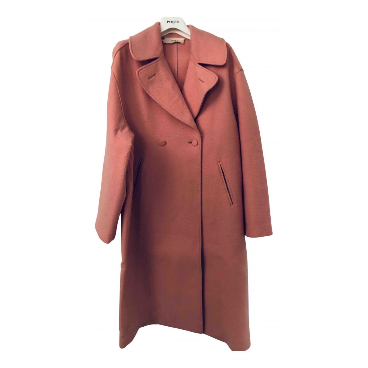 Ports 1961 N Pink Wool coat for Women 42 IT