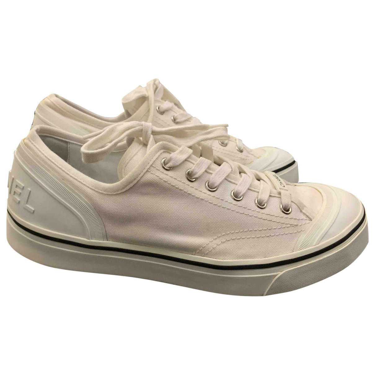 Chanel \N White Cloth Trainers for Women 41 EU