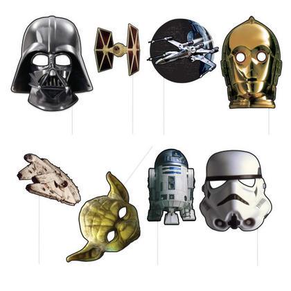 Star Wars 8 Photo Props Pour la fête d'anniversaire