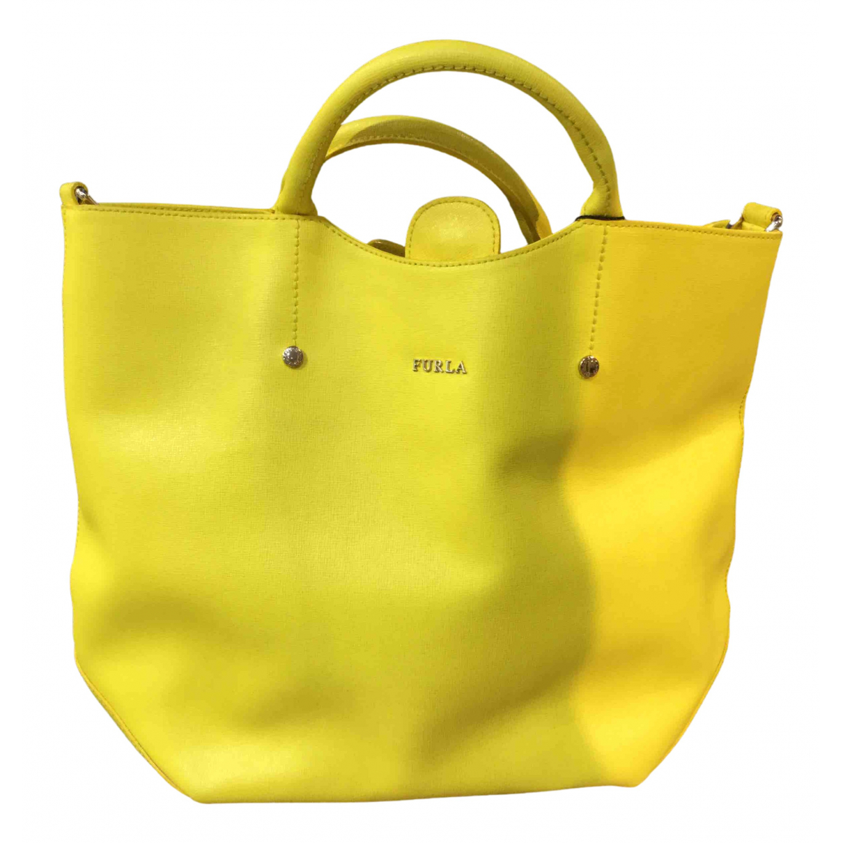Furla N Yellow Leather handbag for Women N