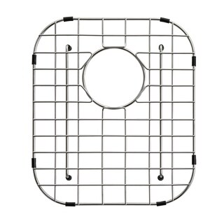 KRAUS Stainless Steel Bottom Grid with Protective Anti-Scratch Bumpers (12-3/8 in. x 14-1/2 in. x 1-1/4 in.)