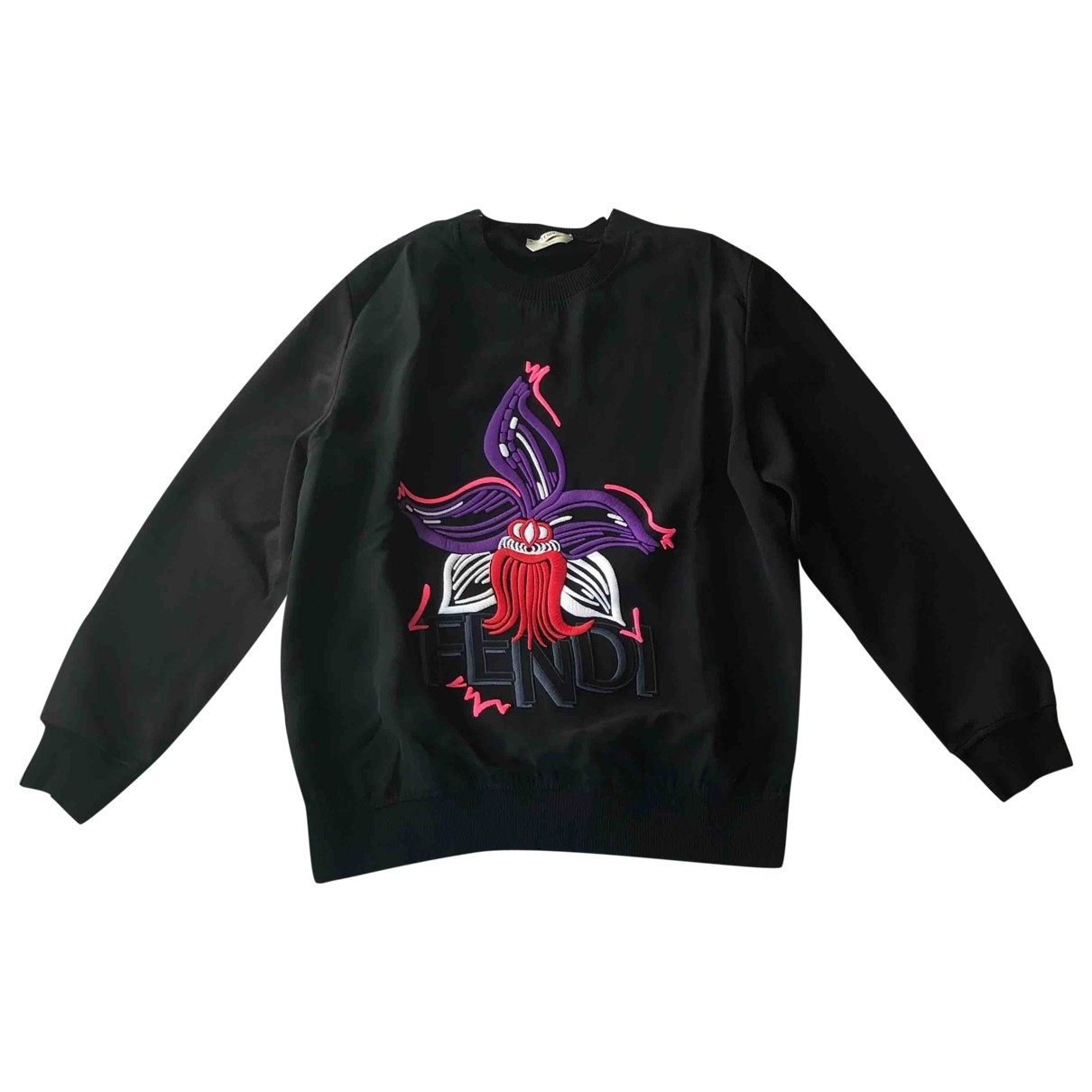 Fendi \N Pullover in  Schwarz Seide
