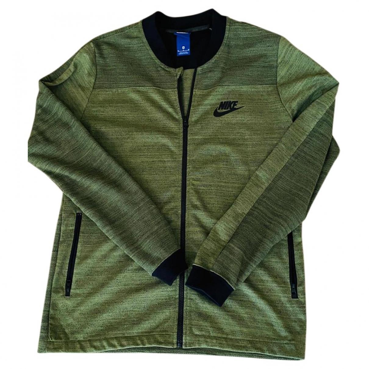 Nike \N Pullover.Westen.Sweatshirts  in  Gruen Synthetik