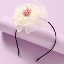 Aro de pelo de niñitas con flor