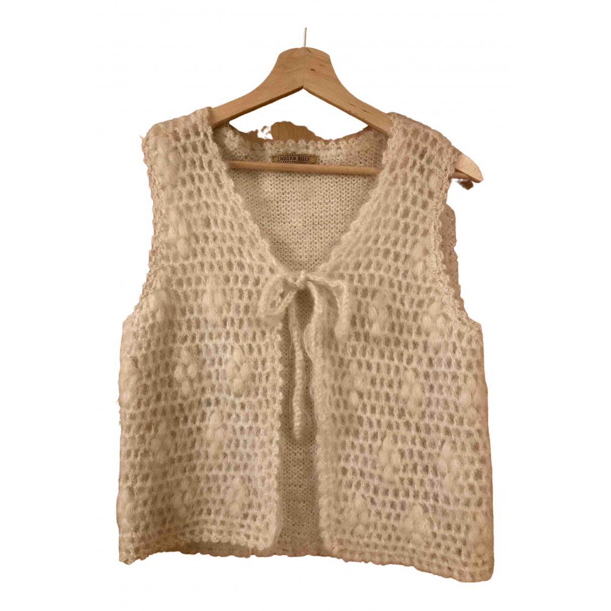 - Top Hippie Chic pour femme en laine - beige