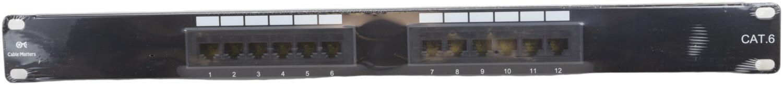 Cable Matters 12 Port Cat6 1U Patch Panel Cat 6 180010-CAT6