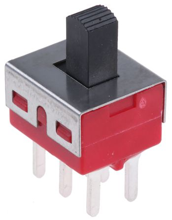 RS PRO PCB Slide Switch Double Pole Double Throw (DPDT) Latching 5 A @ 28 V dc Top