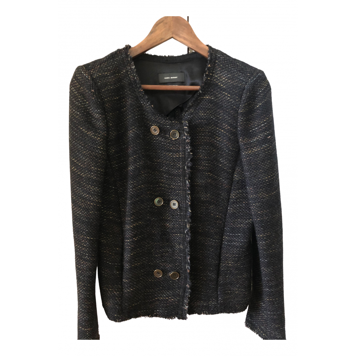 Isabel Marant \N Jacke in  Marine Synthetik