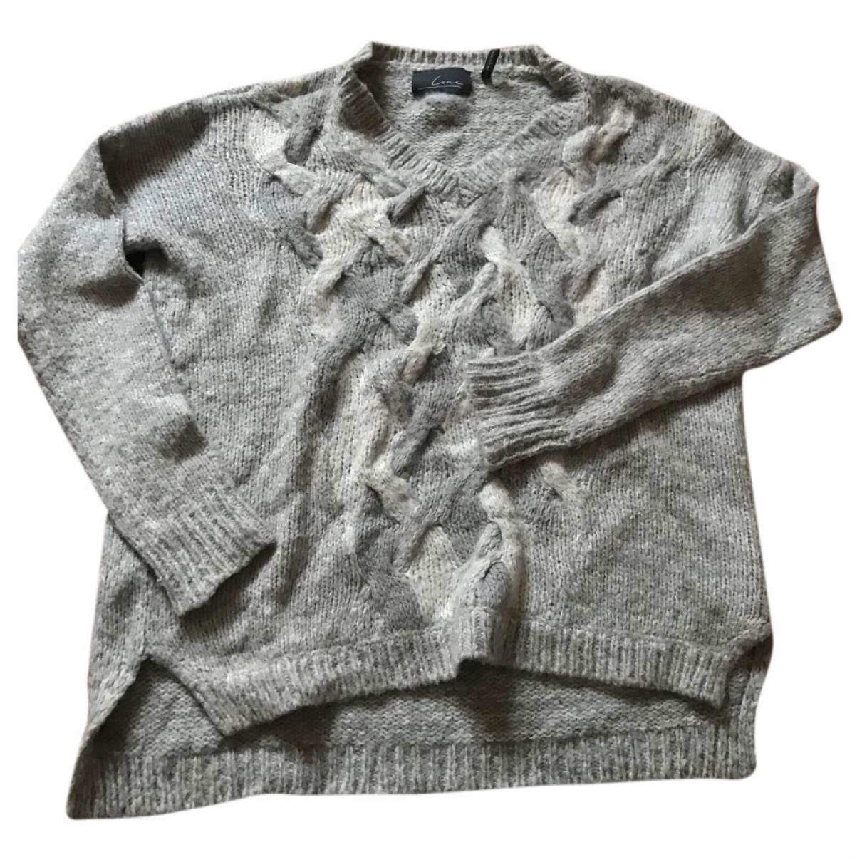 Line And Jo - Pull   pour femme en laine - gris