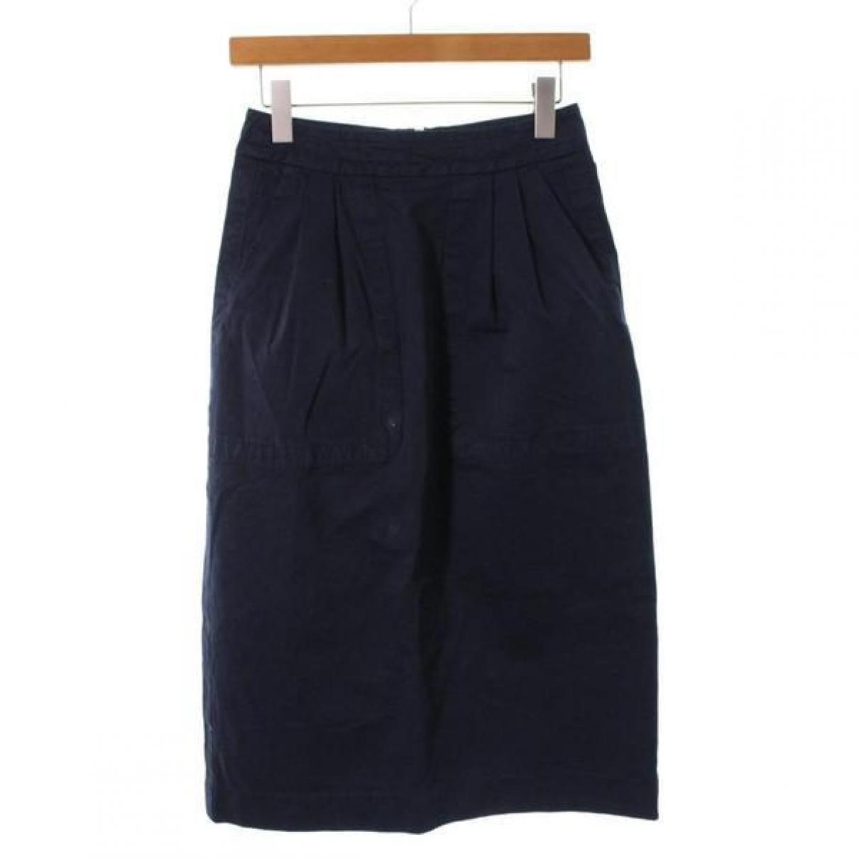 Dries Van Noten - Jupe   pour femme en coton - bleu