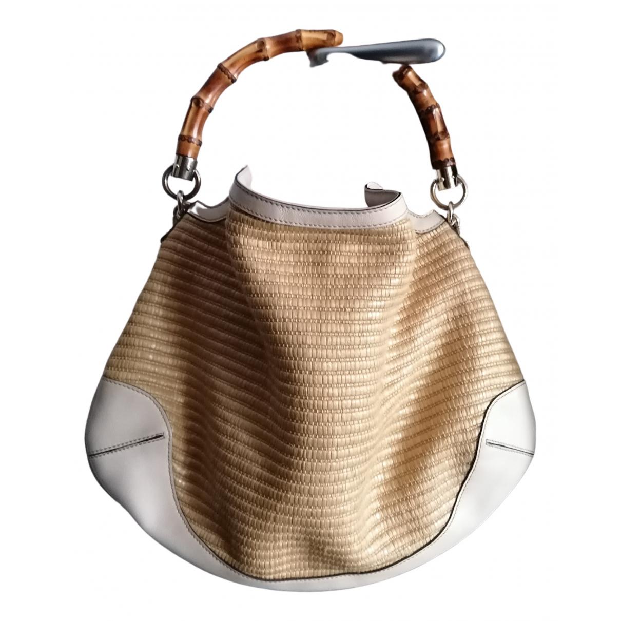 Gucci Bamboo Beige Wicker handbag for Women N
