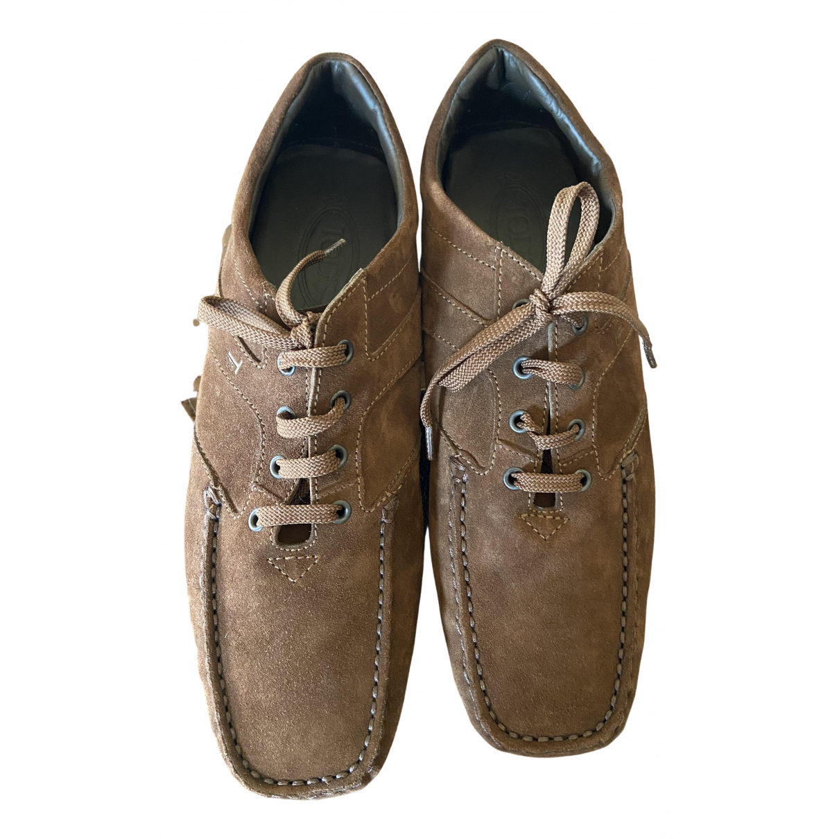 Tod's N Brown Suede Lace ups for Men 10 UK