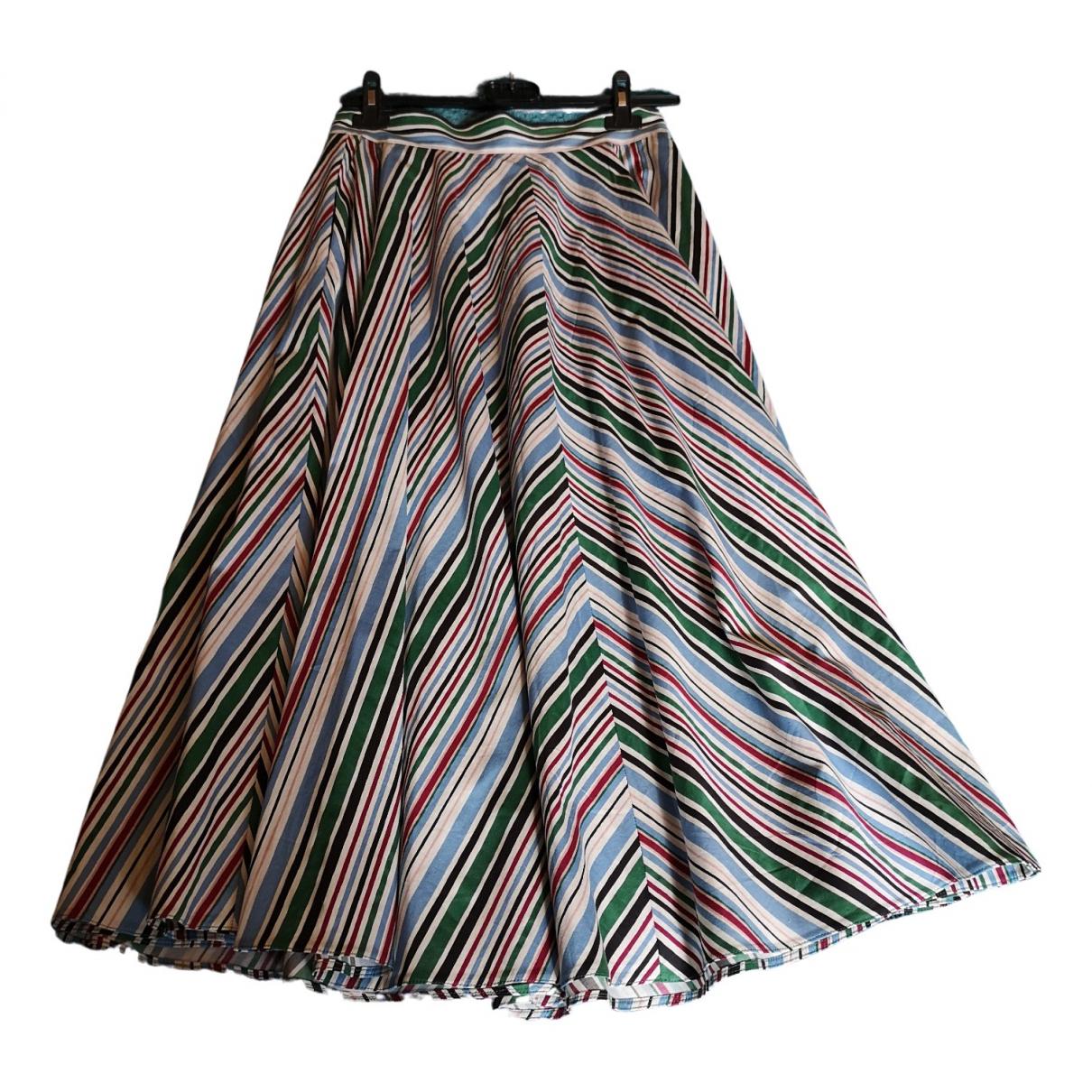 Marella - Jupe   pour femme en coton - multicolore