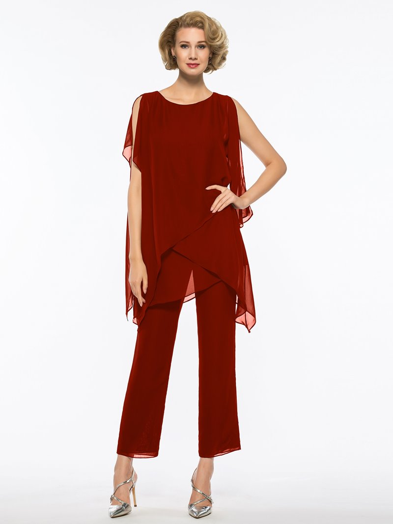 Ericdress 2 Pieces Chiffon Mother of The Bride Pantsuits