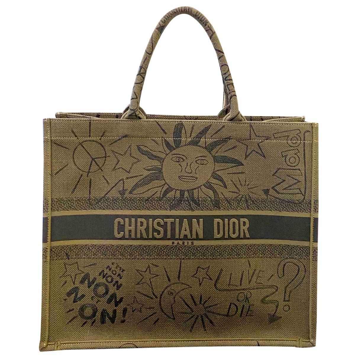 Bolso  Book Tote de Lona Dior