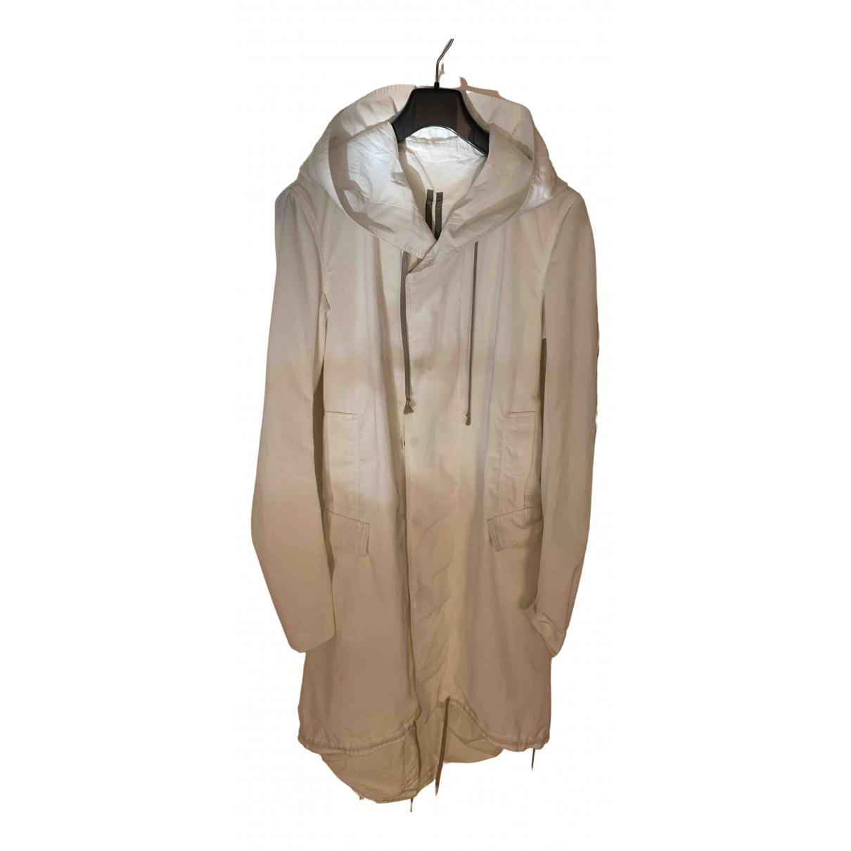 Rick Owens Drkshdw - Manteau   pour femme en coton - ecru