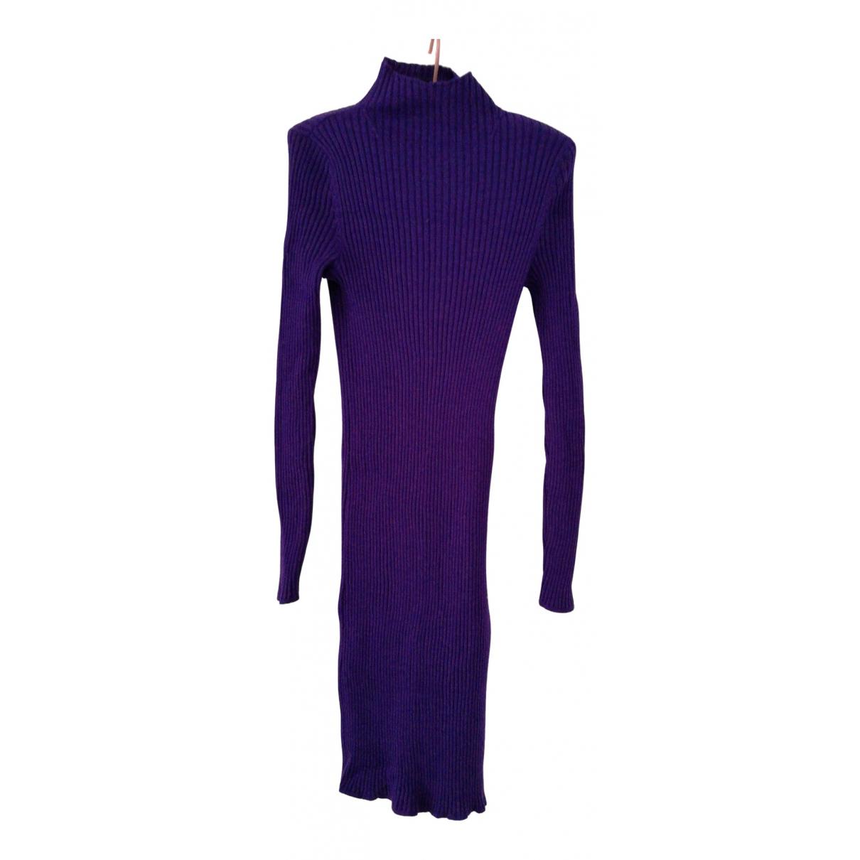 Lauren Ralph Lauren N Purple Wool dress for Women 38 FR