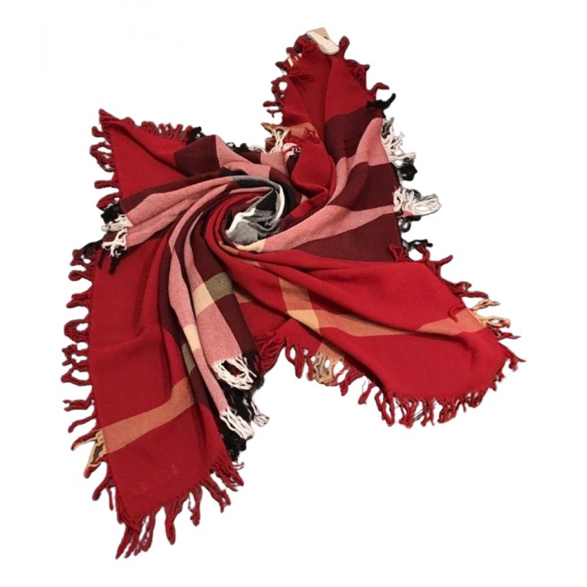 Burberry - Foulard   pour femme en laine - rouge