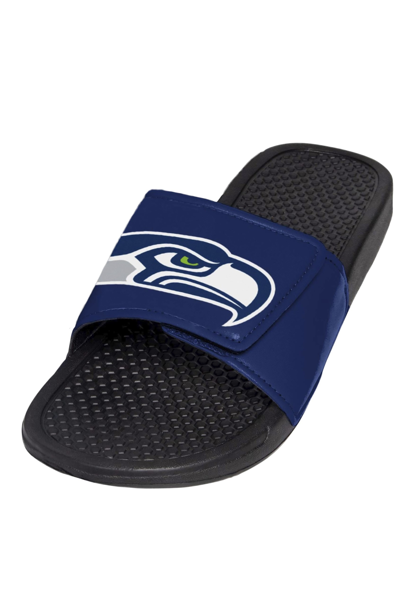 Mens Seahawks Cropped Big Logo Slide Flip Flop Sandals