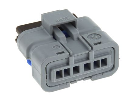 Delphi , Sicma Female 6 Way Connector Housing for use with Automotive Connectors (5)