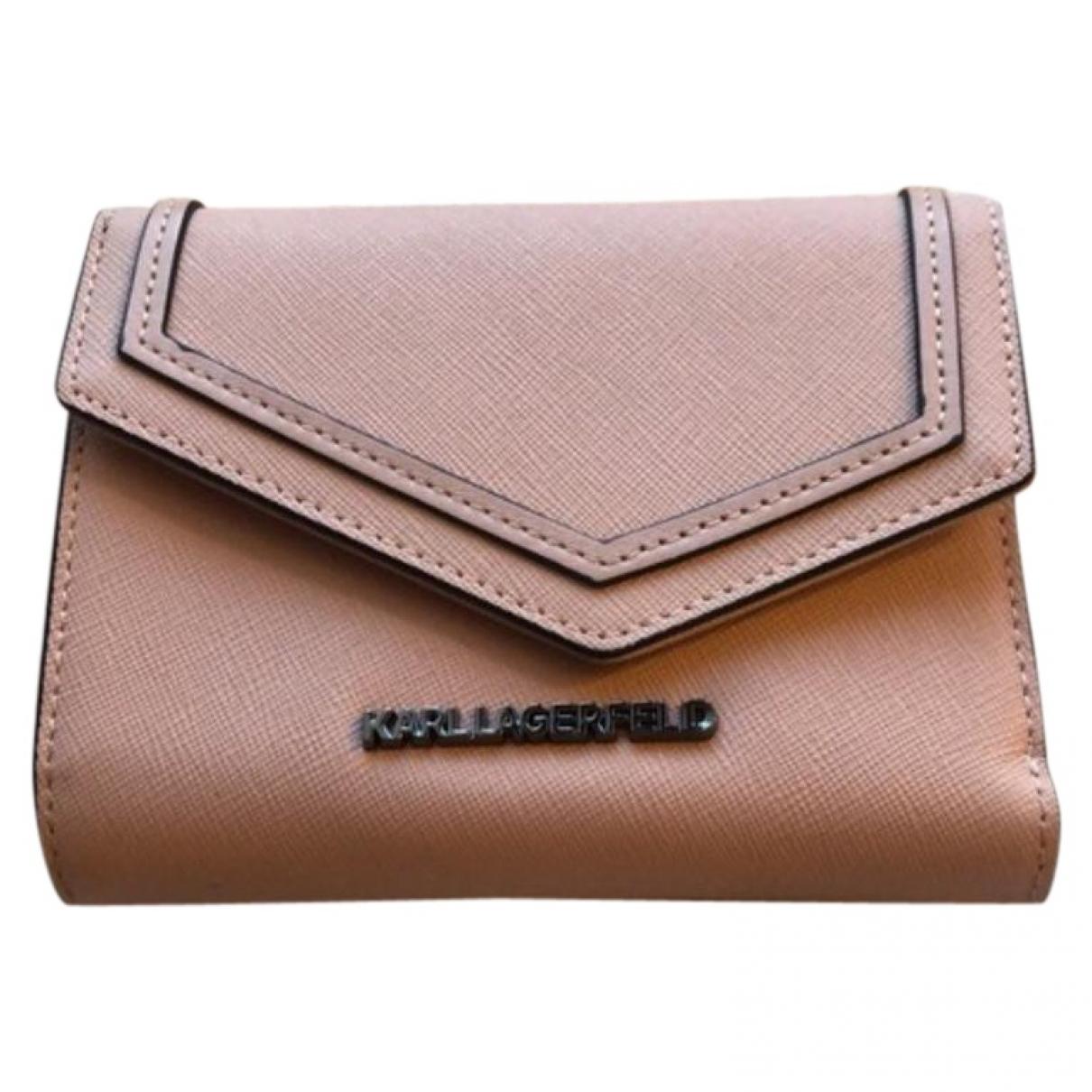 Karl Lagerfeld \N Pink Leather wallet for Women \N