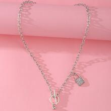 Halskette mit Strass und Verschluss Dekor