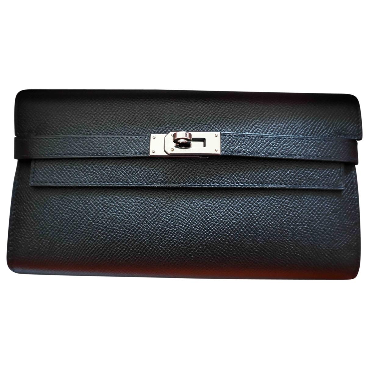 Hermès Kelly Black Leather wallet for Women N