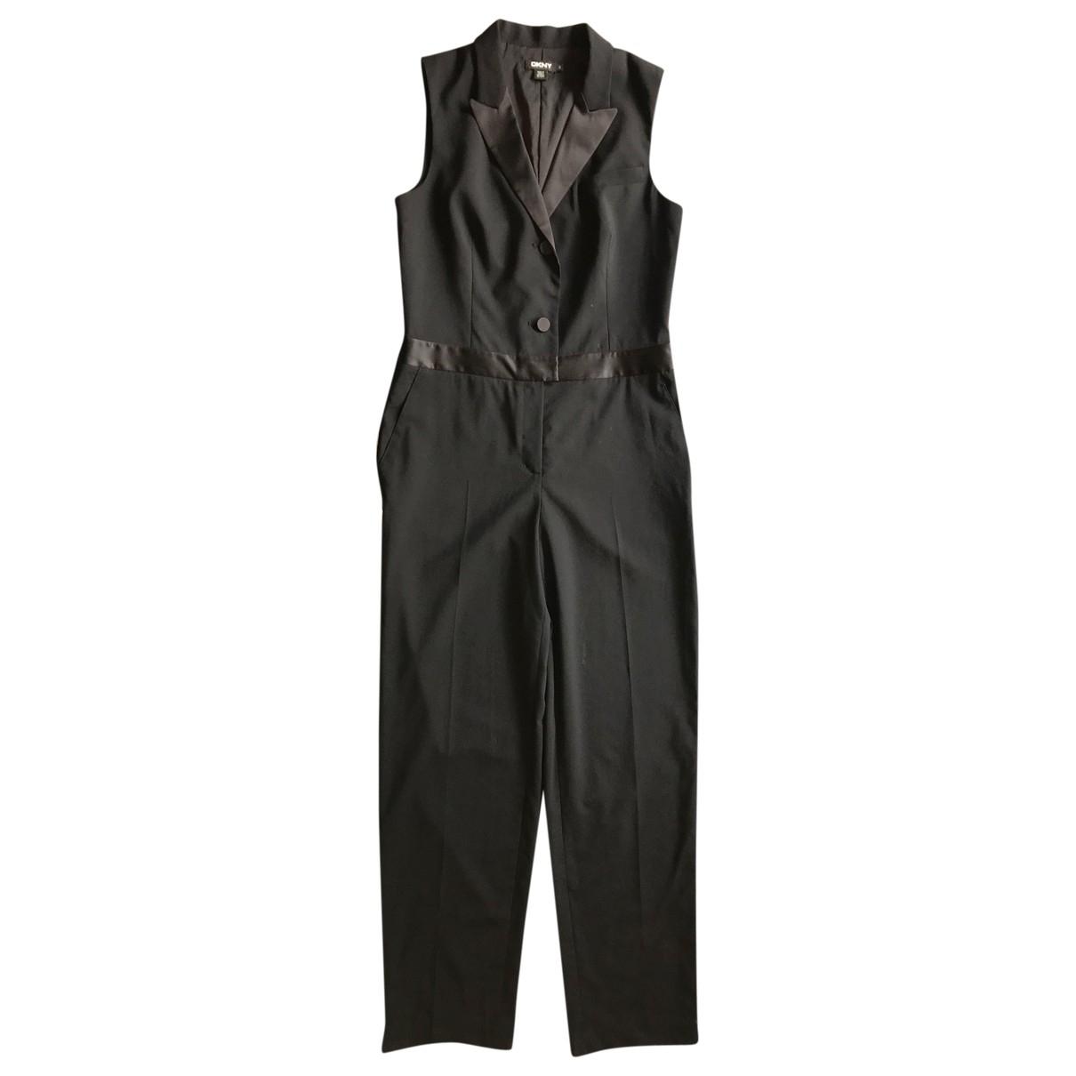 Dkny \N Black Wool jumpsuit for Women 12 US