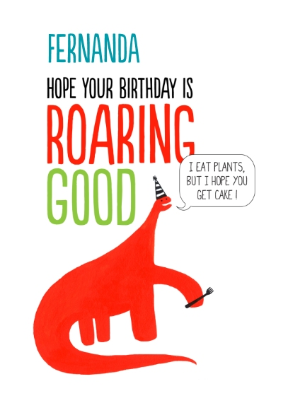 Birthday Greeting Cards Mail-for-Me Premium 5x7 Folded Card , Card & Stationery -Roaring Good Birthday
