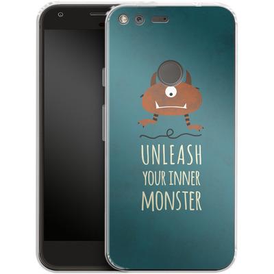 Google Pixel XL Silikon Handyhuelle - Unleash Your Inner Monster von Statements