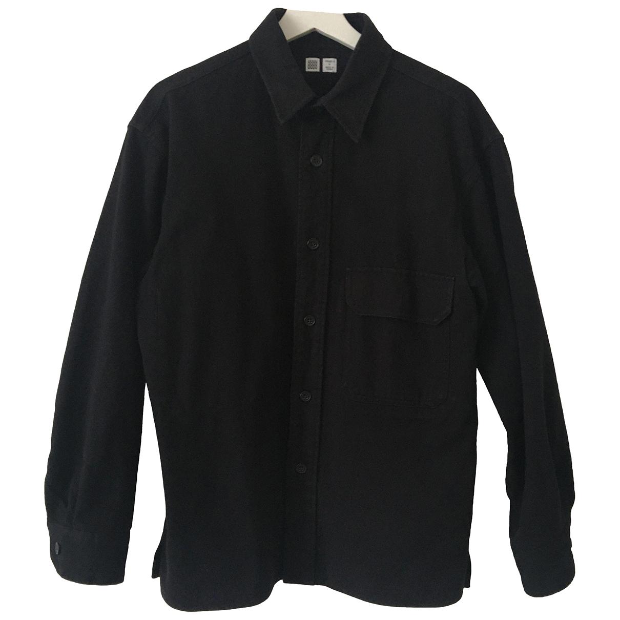 Uniqlo - Chemises   pour homme en coton - noir